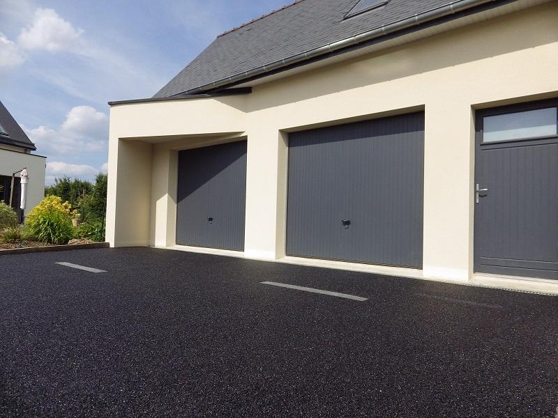 Enrob froid rubis noir permeable et drainant - Revetement pour allee de garage ...