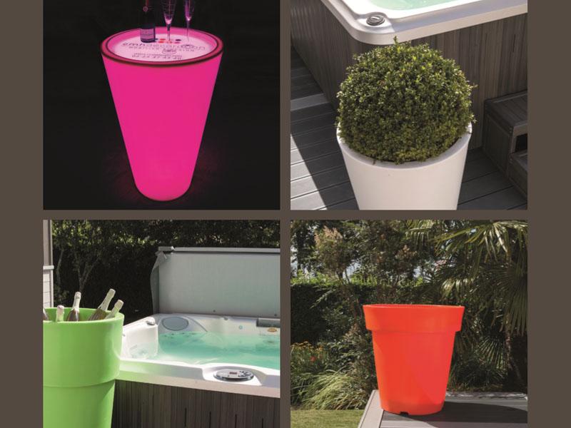 pots design interieur et exterieur pots lumineux. Black Bedroom Furniture Sets. Home Design Ideas